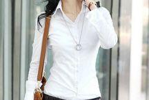 Cách phối đồ với áo sơ mi trắng nữ