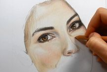 FACE ART WITH PENCILS