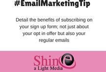 Email Marketing Tips / Top tips and actions to consider when creating email campaigns for business.  #emailmarketing