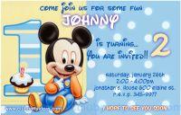 Disney baby mickey mouse birthday free invitations