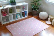 Pink Nursery Rugs / Perfectly pink girl's floor rugs.  Simply sweet as a nursery rug, bedside rug or playroom rug.