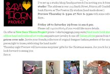 Updates & news for Sara Thorn designer / Up dates & news for designer/artist Sara Thorn..pop ups,sales,on line news & announcements,travel,adventures & outlets..across the globe