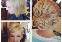 Short hair up do's / by Kelly Geiser