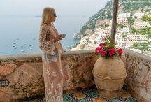 Steven Cox Instagram Photos @amberjessen - my model this morning. #positano #amalficoast #sandiegotakesoverpositano