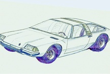 Car Drawings from Luis Guillen, my friend - RIP / the cars that inspire the future...