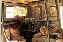 Wooded interiour / Lovely wooded places, cosy and warm