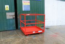 Multec Man-Lift Baskets / Designed and manufactured by Multec Engineering.  Standard Spec:  Checker plate floor 100mm kick plate Safety chain 40x40 box 4ft sq. platform all new steel one side entry full length forklift channel Can be moved by pallet truck or any telehandler. Strong and sturdy base frame.  Available in different colours (call for details)