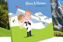 Gastenboek bruiloft - Guestbook wedding / Gastenboek op maat - Custom made guestbook