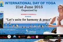 International Day of Yoga / Rishikul Yogshala celebrates the first #InternationalDayofYoga.