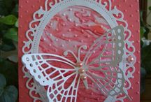 Oval card with butterfly