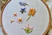 Embroidery and needle felting