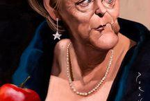 Caricaturas- Angela Merkel