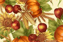Autumn fabric, quilts / by Gloria Hanaway