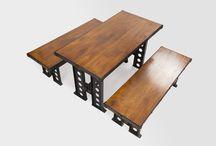 Industrial style / Piesele realizate din lemn masiv si elemente din otel dau o personalitate proprie oricarui spatiu.
