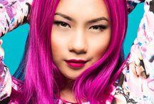 Sapphire Ng   Pink Hair /   https://www.facebook.com/SapphireNgGuitarist       http://www.sapphire-love.blogspot.sg/    http://www.modelmayhem.com/SapphireNg      https://plus.google.com/+SapphireNgGuitarist/posts       http://www.youtube.com/user/SapphireNgGuitarist/videos