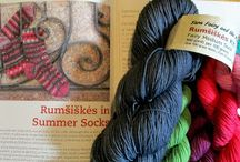 Yarn sets / Have you seen the amazing mitt/sock set in Donna Druchunas's  Lithuanian Knitting Continuing Traditions named Rumsiskes? The Fae Realm has and the Yarn Fairy and the Pixies have created kits for them!