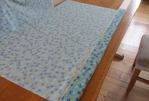 Quilting on table