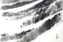 Japanese ink art