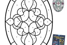 stained glass patterne