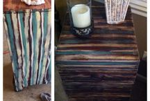 Painted furniture / Sand-primer/paint-sand-antiquing glaze-finishing wax / by Penny Knight