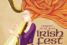 Milwaukee Irish Fest Poster Designs / Some of our fantastic artwork from the annual Milwaukee Irish Fest Posters, 1981 to Present