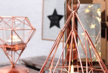 Copper Crush / We love our copper crush range. It's full of geometric mirrors, candle holders and signs. Copper is right on trend so it's perfect for decorating the home.