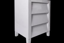 Modern Classic Dakota White Glass Three Drawer Bedside Table