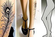 Ciorapi lungi cu model