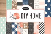 Jen Hadfield DIY Home Collection / Capture the true essence of home with the newest collection by Jen Hadfield, DIY Home. Inspired by Jen's impeccable home decor style, this collection boasts eye-catching patterns, textures and a pleasing palette of pink, charcoal, vanilla and robin's egg. Delightful phrases and icons feature touches of gold foil for a fun yet sophisticated look. This versatile collection is perfect for all types of DIY, scrapbooking, and crafting projects. / by Pebbles Inc