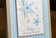 Stampin up welcome baby cards