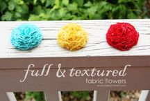 Making Fabric Flowers / by Kim Wright
