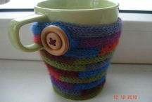 Coffee cozy / Crochet and knitting