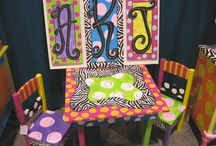 Hand Painted Table & Chairs / by Distinctive Artistry