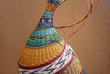 плетеные вазы