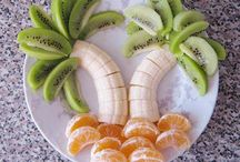 art on fruits, vegetables and dishes