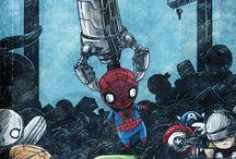Sarjakuvat yms. / Marvelin ja DC:n hahmoja enimmäkseen. Mukana myös kaikenlaista liittyvää.