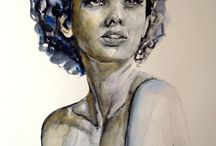 Black and White Watercolors