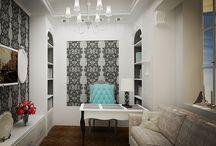 Домашний кабинет /Home office / Фото и проекты домашних кабинетов от студии дизайна интерьеров Finoarte
