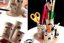 riciclo creativo / idee di riciclo creativo per laboratori bambini