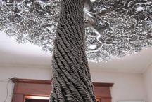 metal ağaç
