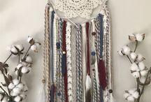 Crocheted dreamcatcher