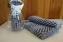 Outstanding Kitchen Linens / Handwoven! Elegant pattern will enhance any kitchen! Natural Fiber - 100% cotton... Super absorbent, these towels will last you a lifetime.
