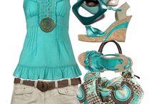 aqua (vízzöld/kék) öltözék tavasz/nyár