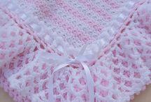 pembe beyaz bebek battaniyesi