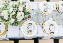 Wedding centerpieces / Inspirações para arranjos de mesas para casamento