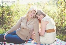 Senior Portraits with Mother Posing