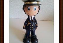 Fofucho capitán de fragata / Muñeco totalmente personalizado, a imagen y semejanza de los dueños