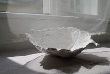 our work - bowl collection / These plaster bowls were inspired by the beautiful texture and forms of vegetables.
