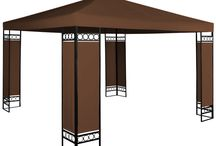 Garden Metal Gazebo Shade Structure Outdoor Furniture Patio Tent Brown Stylish