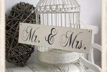 Mr & Mrs Signs / Creative alternative Mr & Mrs signs for wedding decor.